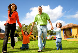 Personal Insurance Happy Family of Four
