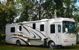 Motor Home Insurance Motorhome in Trees RV