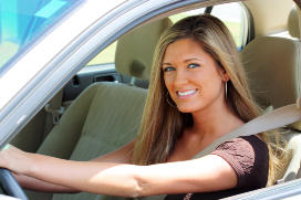 Auto Insurance Woman in Car